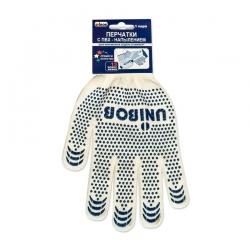Перчатки трикотажные UNIBOB с ПВХ напылением, пара