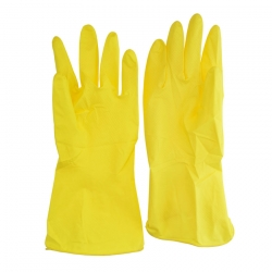 Перчатки латексные UNIBOB стандарт, Жёлтые, пара