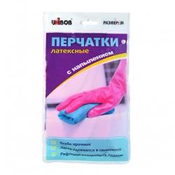 Перчатки латексные UNIBOB с хб напылением, пара