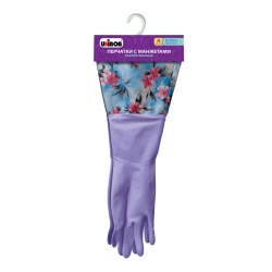 Перчатки латексные UNIBOB с манжетами, Фиолетовые, пара