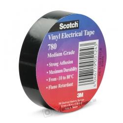 Изолента ПВХ 3M Scotch 780 морозостойкая, Черная, 180мкр