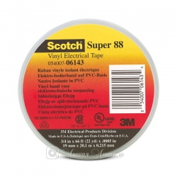 Изолента ПВХ 3M Scotch Super 88 морозостойкая, 220мкр